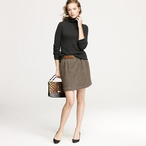 J Crew Wool Leather-Tipped Bell Skirt 4